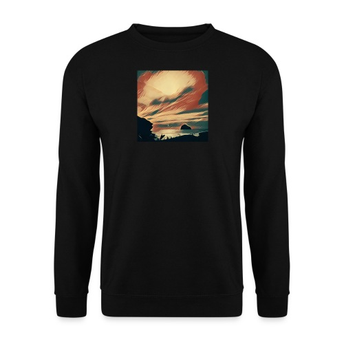 Men's Sweatshirt - Water,Surfing,Surf,Seaside,Sea,Scene,Cornwall,Beach