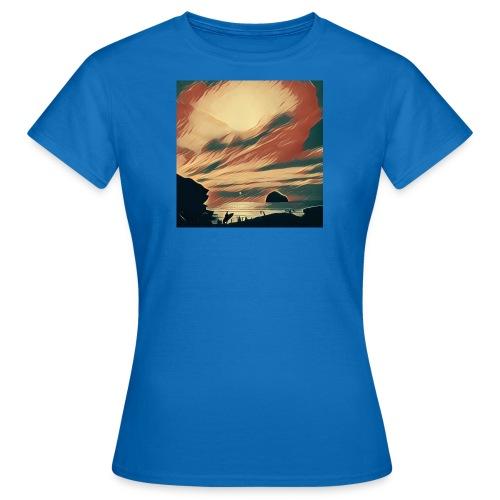 Women's T-Shirt - Water,Surfing,Surf,Seaside,Sea,Scene,Cornwall,Beach