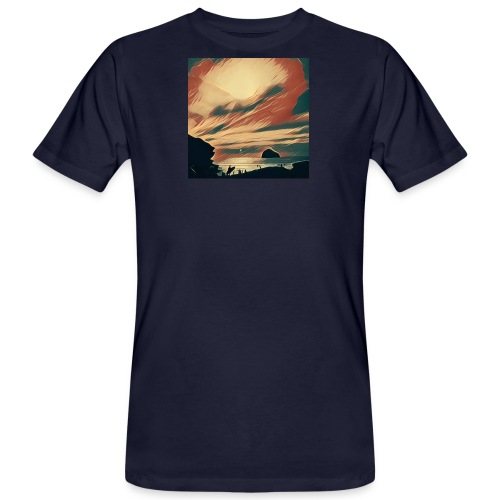 Men's Organic T-Shirt - Water,Surfing,Surf,Seaside,Sea,Scene,Cornwall,Beach
