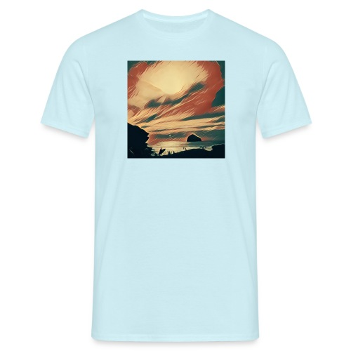 Men's T-Shirt - Water,Surfing,Surf,Seaside,Sea,Scene,Cornwall,Beach