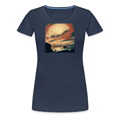 Women's Premium T-Shirt - Water,Surfing,Surf,Seaside,Sea,Scene,Cornwall,Beach