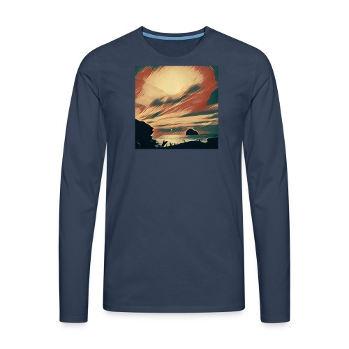 Men's Premium Longsleeve Shirt - Water,Surfing,Surf,Seaside,Sea,Scene,Cornwall,Beach