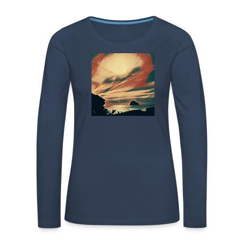 Women's Premium Longsleeve Shirt - Water,Surfing,Surf,Seaside,Sea,Scene,Cornwall,Beach