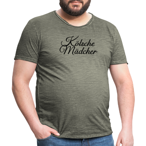Kölsche Mädcher Classic (Weiß) Mädchen aus Köln - Männer Vintage T-Shirt
