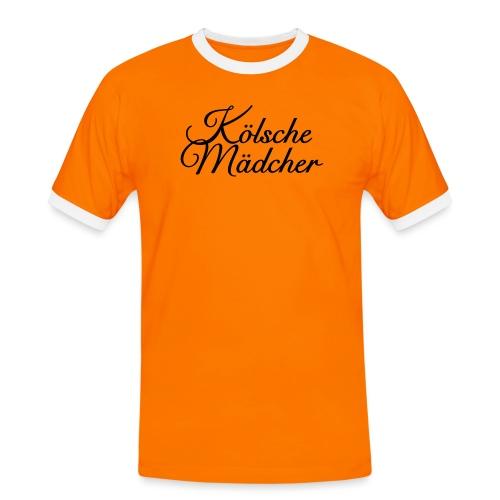 Kölsche Mädcher Classic (Weiß) Mädchen aus Köln - Männer Kontrast-T-Shirt
