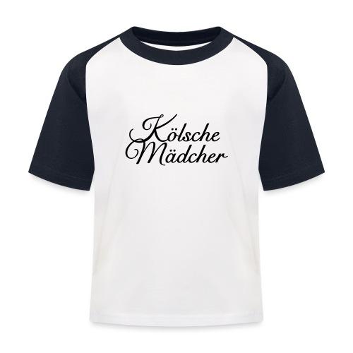 Kölsche Mädcher Classic (Weiß) Mädchen aus Köln - Kinder Baseball T-Shirt