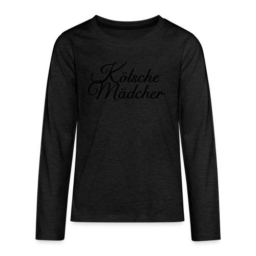 Kölsche Mädcher Classic (Weiß) Mädchen aus Köln - Teenager Premium Langarmshirt