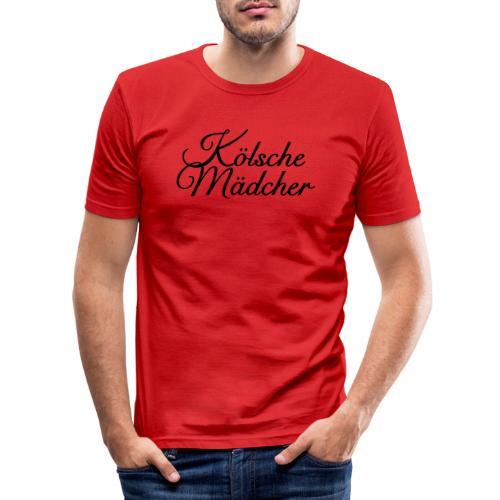 Kölsche Mädcher Classic (Weiß) Mädchen aus Köln - Männer Slim Fit T-Shirt