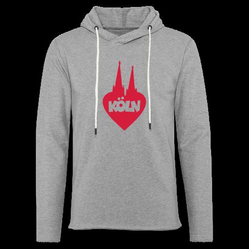 I love Köln mit Herz und Dom - Leichtes Kapuzensweatshirt Unisex