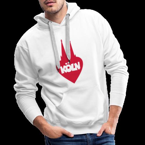 I love Köln mit Herz und Dom - Männer Premium Hoodie
