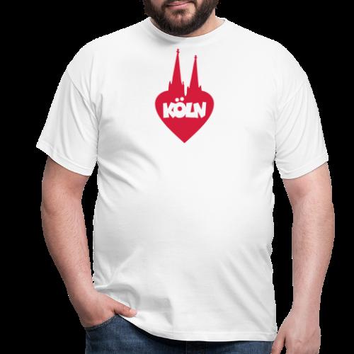 I love Köln mit Herz und Dom - Männer T-Shirt