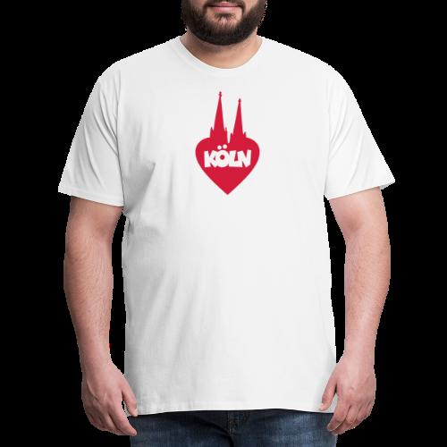 I love Köln mit Herz und Dom - Männer Premium T-Shirt