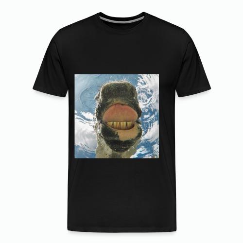 Drinkend Paard - Mannen Premium T-shirt