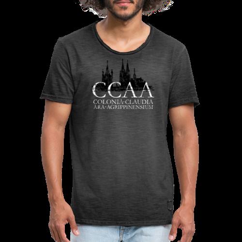 CCAA Colonia Dom St.Martin (Vintage S/W) Köln Skyline Römisch - Männer Vintage T-Shirt