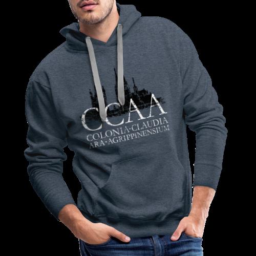 CCAA Colonia Dom St.Martin (Vintage S/W) Köln Skyline Römisch - Männer Premium Hoodie