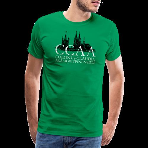 CCAA Colonia Dom St.Martin (Vintage S/W) Köln Skyline Römisch - Männer Premium T-Shirt