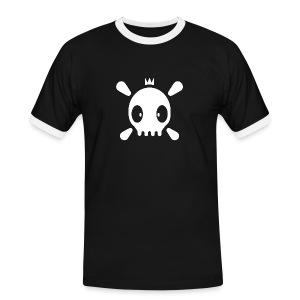 Henri the Skull top - Männer Kontrast-T-Shirt