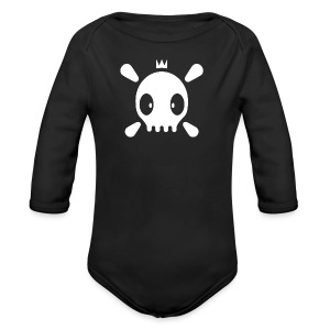 Henri the Skull top - Baby Bio-Langarm-Body