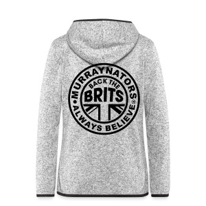 Back The Brits. Mens T. Blue. Large Sizes. - Women's Hooded Fleece Jacket