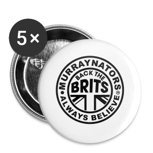 Back The Brits. Mens T. Blue. Large Sizes. - Buttons small 25 mm