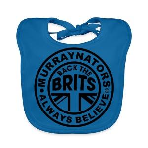 Back The Brits. Mens T. Blue. Large Sizes. - Baby Organic Bib
