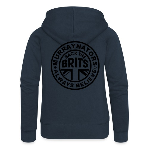 Back The Brits. Mens T. Blue. Large Sizes. - Women's Premium Hooded Jacket