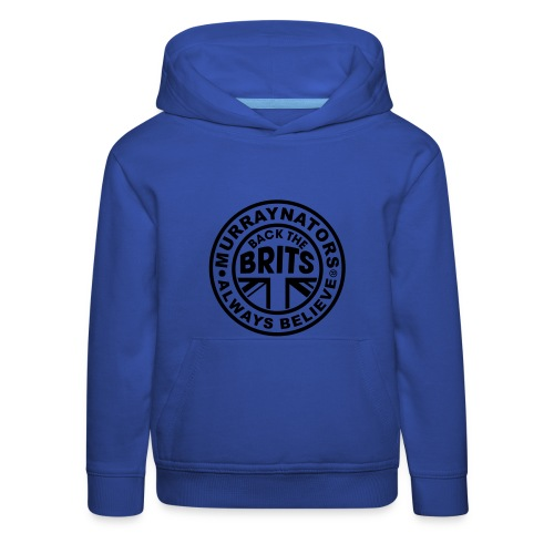 Back The Brits. Mens T. Blue. Large Sizes. - Kids' Premium Hoodie