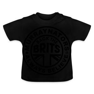 Back The Brits. Mens T. Blue. Large Sizes. - Baby T-Shirt