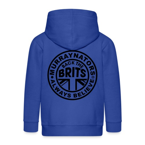 Back The Brits. Mens T. Blue. Large Sizes. - Kids' Premium Zip Hoodie