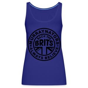 Back The Brits. Mens T. Blue. Large Sizes. - Women's Premium Tank Top