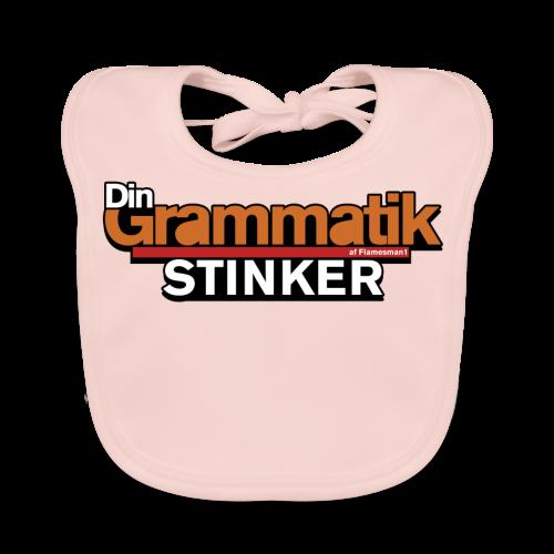 Din Grammatik Stinker (unisex) - Baby økologisk hagesmæk