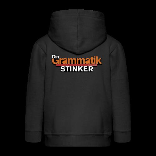 Din Grammatik Stinker (unisex) - Premium hættejakke til børn