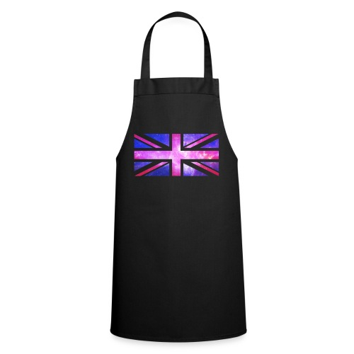 Union Jack Transparent White Galaxy - Cooking Apron