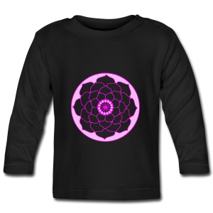 Pink Lotus Flower Mandala  - Baby Long Sleeve T-Shirt