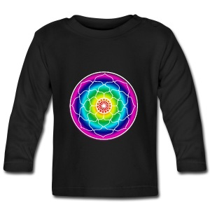 Rainbow Lotus Mandala - Baby Long Sleeve T-Shirt