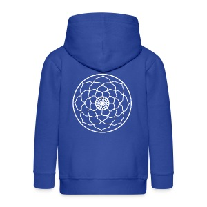 White Lotus Flower Mandala - Kids' Premium Zip Hoodie