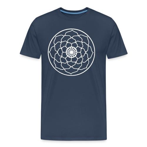 White Lotus Flower Mandala - Men's Premium T-Shirt