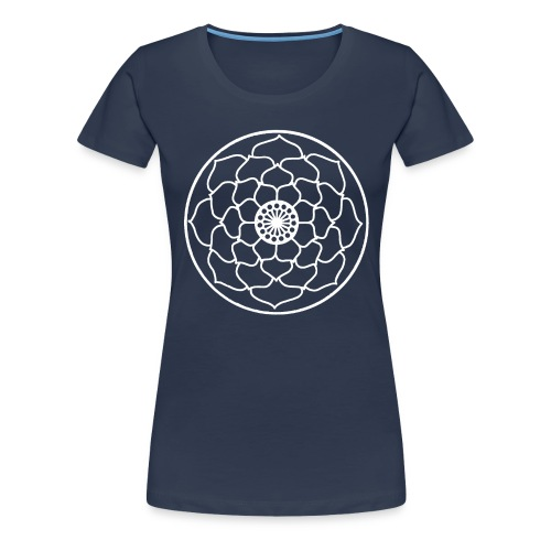 White Lotus Flower Mandala - Women's Premium T-Shirt