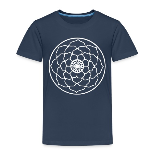 White Lotus Flower Mandala - Kids' Premium T-Shirt