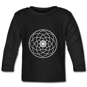 White Lotus Flower Mandala - Baby Long Sleeve T-Shirt