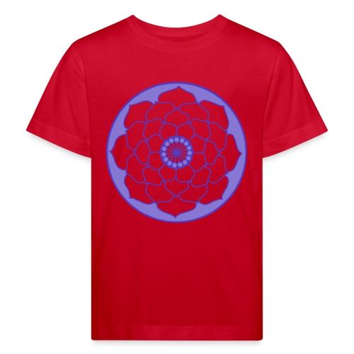 Mauve Lotus Flower Mandala - Kids' Organic T-Shirt