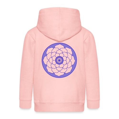 Mauve Lotus Flower Mandala - Kids' Premium Zip Hoodie