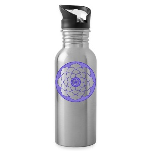 Mauve Lotus Flower Mandala - Water Bottle
