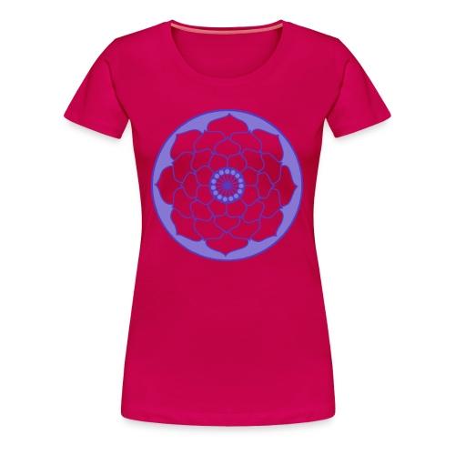 Mauve Lotus Flower Mandala - Women's Premium T-Shirt