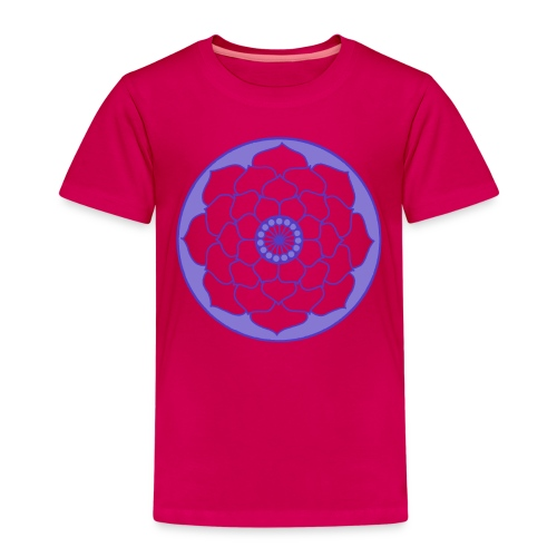 Mauve Lotus Flower Mandala - Kids' Premium T-Shirt