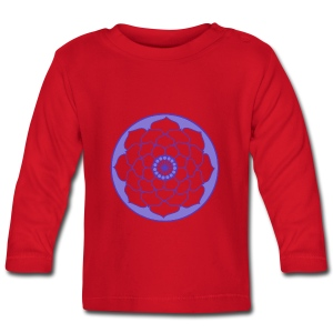 Mauve Lotus Flower Mandala - Baby Long Sleeve T-Shirt