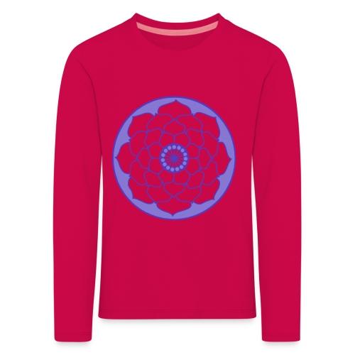 Mauve Lotus Flower Mandala - Kids' Premium Longsleeve Shirt