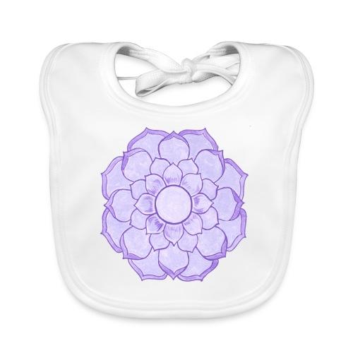 Lauren's Lotus Flower Mandala - Baby Organic Bib