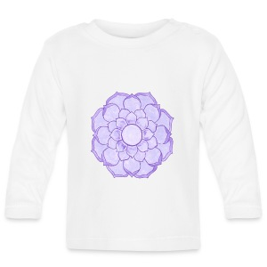 Lauren's Lotus Flower Mandala - Baby Long Sleeve T-Shirt