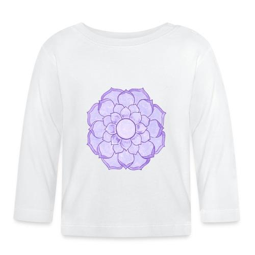 Lauren's Lotus Flower Mandala - Baby Long Sleeve T-Shirt
